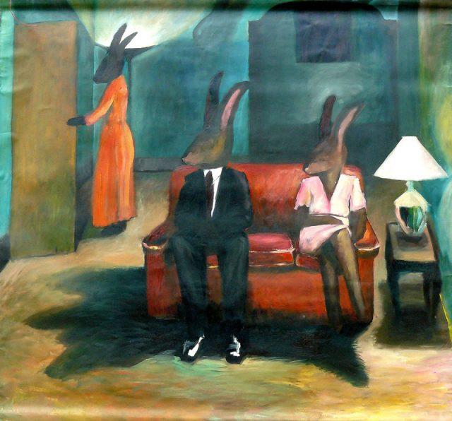 Family IV, acryl on paper, 160x140cm