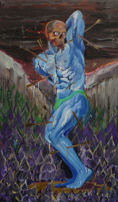 St. Sebastian II, oil on canvas, 154x90cm,