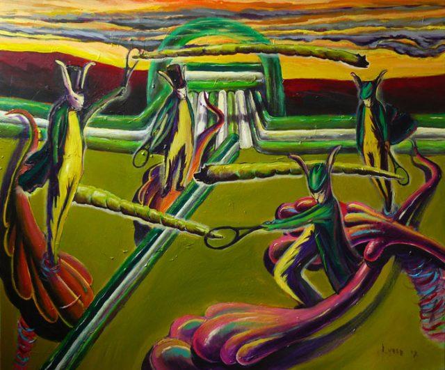Tennis, acryl on canvas, 100x120cm