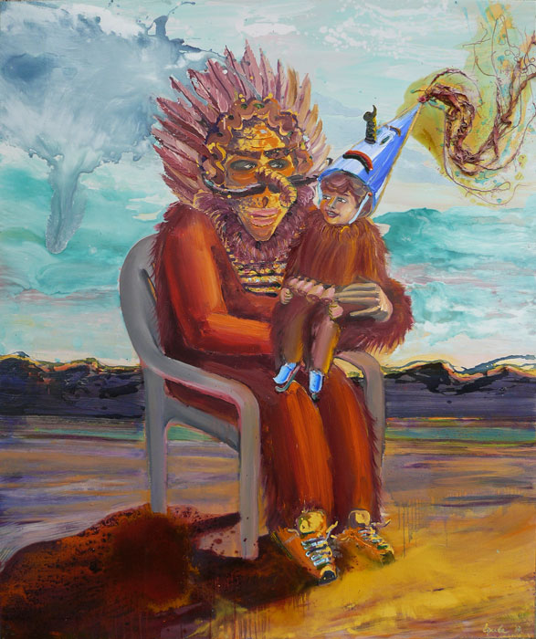 Kuker Family, oil, varnish on canvas, 180x150cm