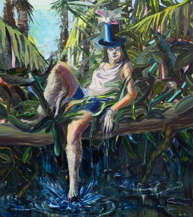 Spirit from the forest, oil on canvas, 160x140cm, 2017