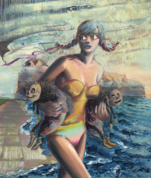 Beegirl, oil on canvas, 140x120cm,2019
