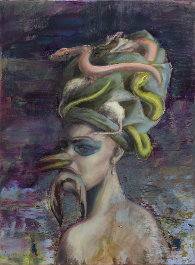 Pandora's sister ,oil on canvas, 80x60 cm, 2020