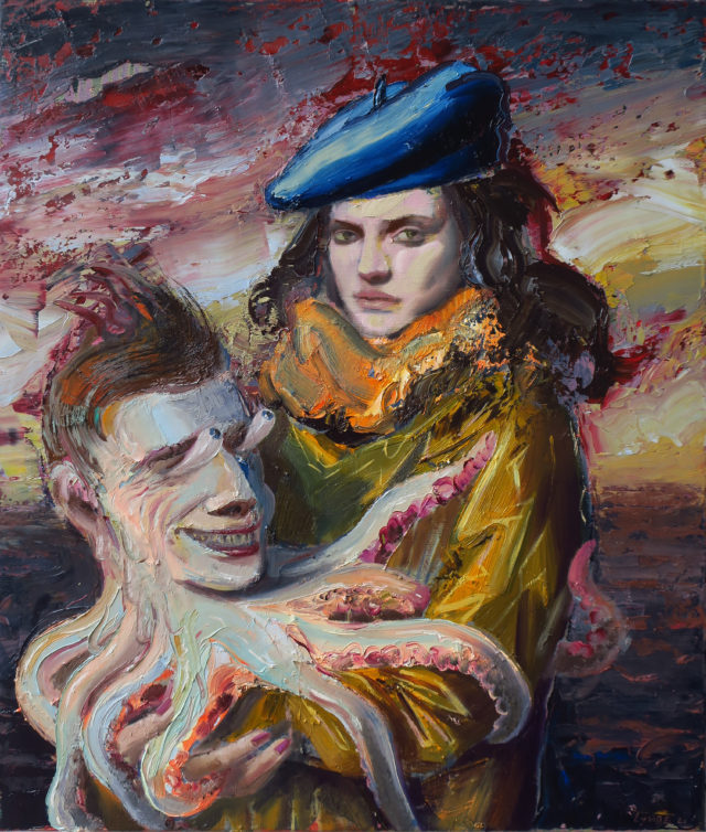 Lovers, oil on canvas, 70x60cm,2021